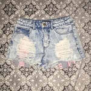 Forever 21 Acid wash shorts